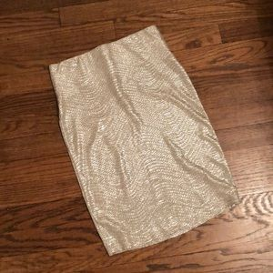 Gold Fitted Skirt